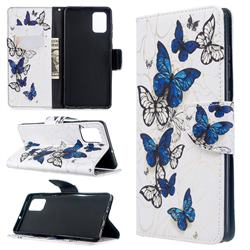 Flying Butterflies Leather Wallet Case for Samsung Galaxy A71 4G