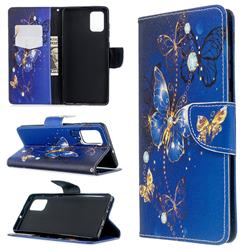 Purple Butterfly Leather Wallet Case for Samsung Galaxy A71 4G