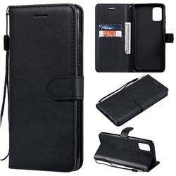 Retro Greek Classic Smooth PU Leather Wallet Phone Case for Samsung Galaxy A71 4G - Black