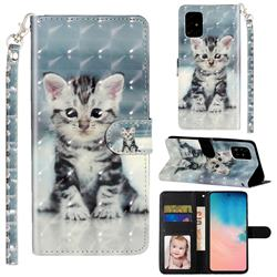 Kitten Cat 3D Leather Phone Holster Wallet Case for Samsung Galaxy A71 4G