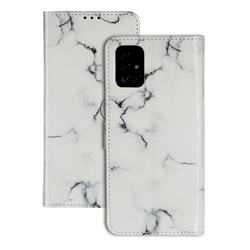 Soft White Marble PU Leather Wallet Case for Samsung Galaxy A71 4G