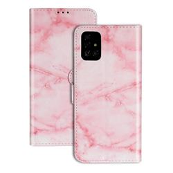 Pink Marble PU Leather Wallet Case for Samsung Galaxy A71 4G