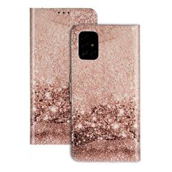 Pink Seawater PU Leather Wallet Case for Samsung Galaxy A71