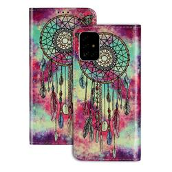 Butterfly Chimes PU Leather Wallet Case for Samsung Galaxy A71 4G