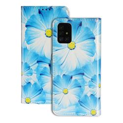 Orchid Flower PU Leather Wallet Case for Samsung Galaxy A71