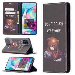 Chainsaw Bear Slim Magnetic Attraction Wallet Flip Cover for Samsung Galaxy A71 4G
