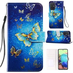 Phnom Penh Butterfly Smooth Leather Phone Wallet Case for Samsung Galaxy A71 4G
