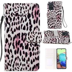 Leopard Smooth Leather Phone Wallet Case for Samsung Galaxy A71 4G