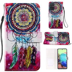 Dreamcatcher Smooth Leather Phone Wallet Case for Samsung Galaxy A71 4G