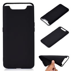 Candy Soft TPU Back Cover for Samsung Galaxy A80 A90 - Black