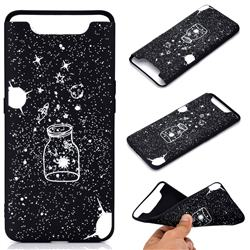 Travel The Universe Chalk Drawing Matte Black TPU Phone Cover for Samsung Galaxy A80 A90