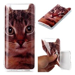 Garfield Cat Soft TPU Cell Phone Back Cover for Samsung Galaxy A80 A90