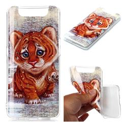 Cute Tiger Baby Soft TPU Cell Phone Back Cover for Samsung Galaxy A80 A90