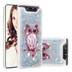 Seashell Owl Dynamic Liquid Glitter Quicksand Soft TPU Case for Samsung Galaxy A80 A90