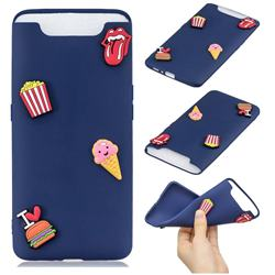 I Love Hamburger Soft 3D Silicone Case for Samsung Galaxy A80 A90