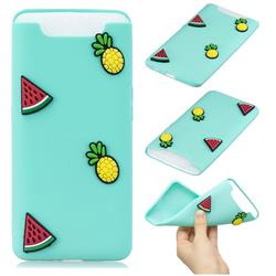 Watermelon Pineapple Soft 3D Silicone Case for Samsung Galaxy A80 A90