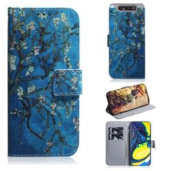 Apricot Tree PU Leather Wallet Case for Samsung Galaxy A80 A90