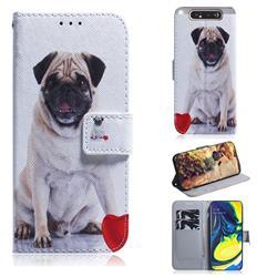 Pug Dog PU Leather Wallet Case for Samsung Galaxy A80 A90