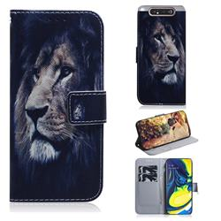 Lion Face PU Leather Wallet Case for Samsung Galaxy A80 A90