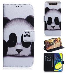 Sleeping Panda PU Leather Wallet Case for Samsung Galaxy A80 A90