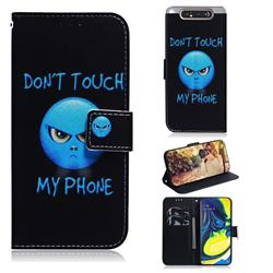 Not Touch My Phone PU Leather Wallet Case for Samsung Galaxy A80 A90