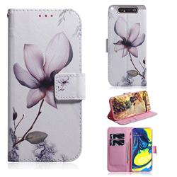 Magnolia Flower PU Leather Wallet Case for Samsung Galaxy A80 A90