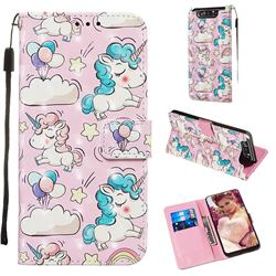 Angel Pony 3D Painted Leather Wallet Case for Samsung Galaxy A80 A90