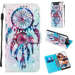 ColorDrops Wind Chimes 3D Painted Leather Wallet Case for Samsung Galaxy A80 A90