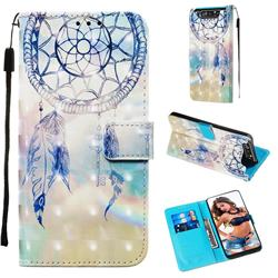 Fantasy Campanula 3D Painted Leather Wallet Case for Samsung Galaxy A80 A90