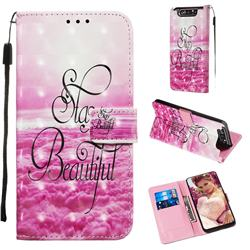 Beautiful 3D Painted Leather Wallet Case for Samsung Galaxy A80 A90