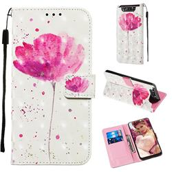 Watercolor 3D Painted Leather Wallet Case for Samsung Galaxy A80 A90