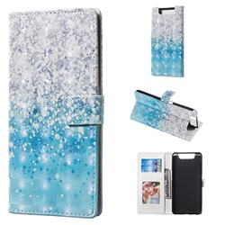 Sea Sand 3D Painted Leather Phone Wallet Case for Samsung Galaxy A80 A90