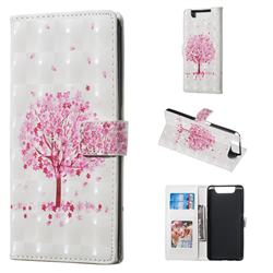Sakura Flower Tree 3D Painted Leather Phone Wallet Case for Samsung Galaxy A80 A90