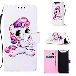 Playful Pony Matte Leather Wallet Phone Case for Samsung Galaxy A80 A90