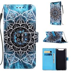 Underwater Mandala Matte Leather Wallet Phone Case for Samsung Galaxy A80 A90