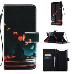 Wandering Earth Matte Leather Wallet Phone Case for Samsung Galaxy A80 A90