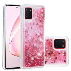 Dynamic Liquid Glitter Quicksand Sequins TPU Phone Case for Samsung Galaxy A81 - Rose