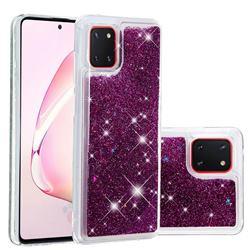 Dynamic Liquid Glitter Quicksand Sequins TPU Phone Case for Samsung Galaxy A81 - Purple