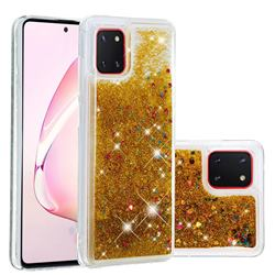 Dynamic Liquid Glitter Quicksand Sequins TPU Phone Case for Samsung Galaxy A81 - Golden