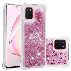 Dynamic Liquid Glitter Sand Quicksand Star TPU Case for Samsung Galaxy A81 - Diamond Rose