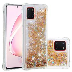 Dynamic Liquid Glitter Sand Quicksand Star TPU Case for Samsung Galaxy A81 - Diamond Gold