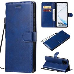Retro Greek Classic Smooth PU Leather Wallet Phone Case for Samsung Galaxy A81 - Blue