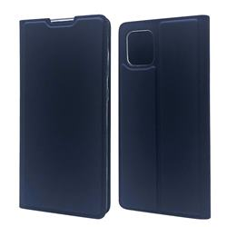 Ultra Slim Card Magnetic Automatic Suction Leather Wallet Case for Samsung Galaxy A81 - Royal Blue