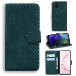 Retro Classic Skin Feel Leather Wallet Phone Case for Samsung Galaxy A81 - Green