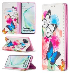 Flying Butterflies Slim Magnetic Attraction Wallet Flip Cover for Samsung Galaxy A81
