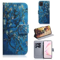 Apricot Tree PU Leather Wallet Case for Samsung Galaxy A81