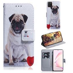 Pug Dog PU Leather Wallet Case for Samsung Galaxy A81