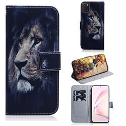 Lion Face PU Leather Wallet Case for Samsung Galaxy A81