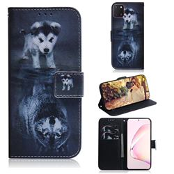 Wolf and Dog PU Leather Wallet Case for Samsung Galaxy A81