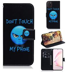 Not Touch My Phone PU Leather Wallet Case for Samsung Galaxy A81